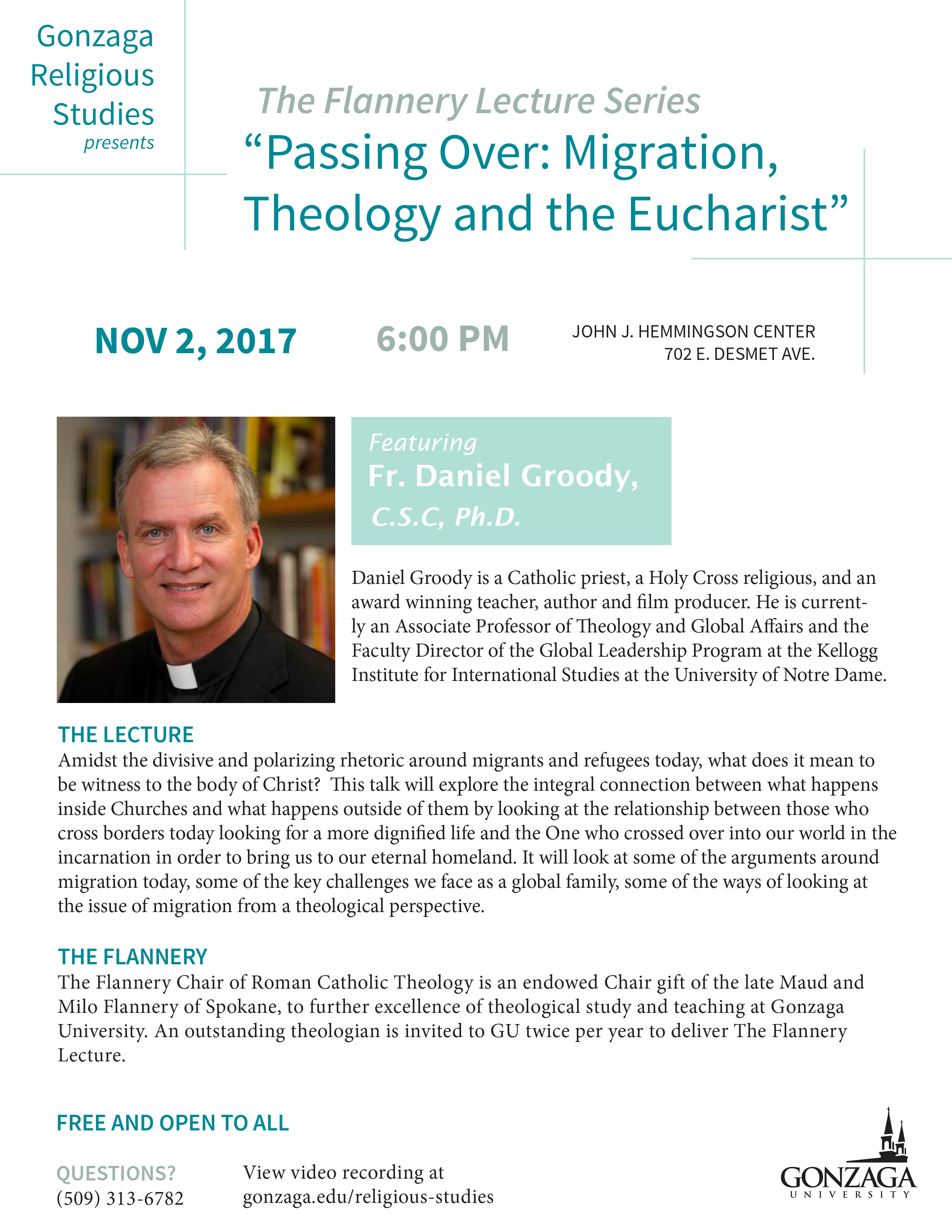 Print Flyer:  Passing Over: Migration, Theology and the Eucharist